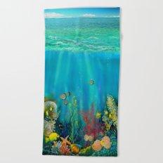 Undersea Art With Coral Beach Towel