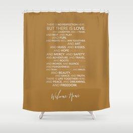 Family Manifesto (Orange) Shower Curtain