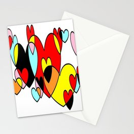 Corazones mult Stationery Cards