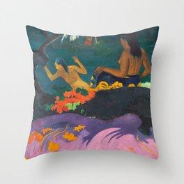 Paul Gauguin - By the Sea- Tropical Decor Throw Pillow