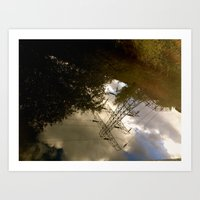 reflections in england  Art Print