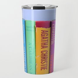 Row of Colorful Vintage Agatha's Travel Mug