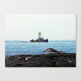 Fishing Close to Shore Canvas Print