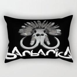 Barbarica Logo Black Rectangular Pillow