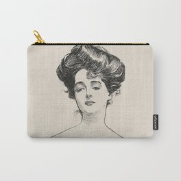 Pencil drawing -Charles Dana Gibson -The Gibson Girl. Carry-All Pouch