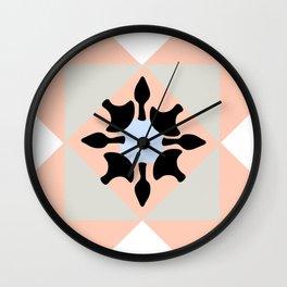 Portuguese tiles pattern vector Wall Clock