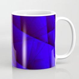 Dark contrasting blue fragments of crystals on triangles of irregular shape. Coffee Mug