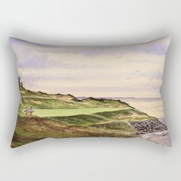 Whistling Straits Golf Course Hole 7 Rectangular Pillow