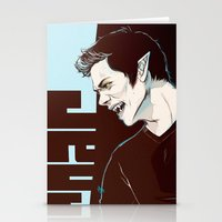 stiles Stationery Cards featuring stiles no2 by kala