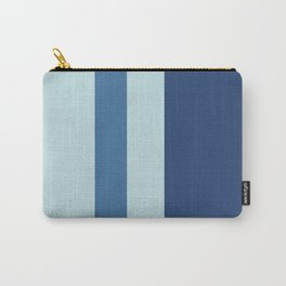A splendid harmonization of Light Grey, Dark Slate Blue, Off Blue and Queen Blue vertical stripes. Carry-All Pouch