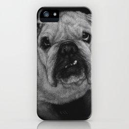 Hugo a bulldog iPhone Case