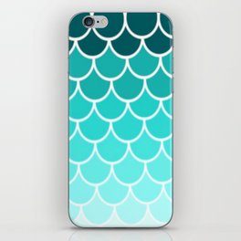Ombre Fish Scale Pattern iPhone Skin