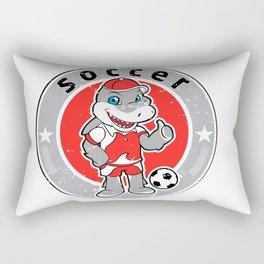 Shark mascot football team logo Rectangular Pillow