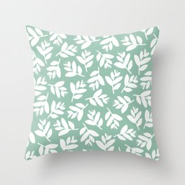 Sprigs | cool mint  Throw Pillow