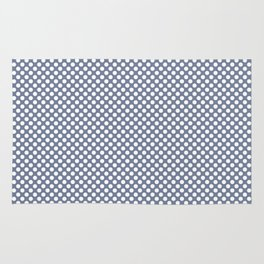 Stonewash and White Polka Dots Rug