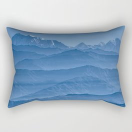 Blue Hima-layers Rectangular Pillow