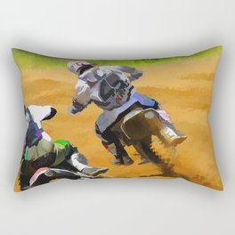Motocross Dirt Racers Rectangular Pillow