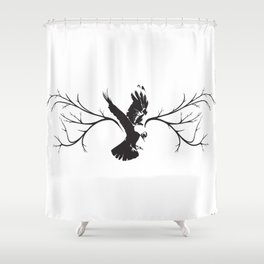 Jackdaw Shower Curtain