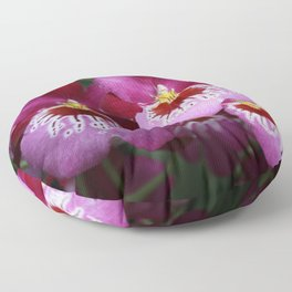 Tropical Flowers Orchids Floor Pillow