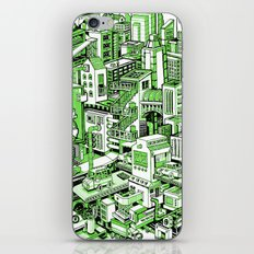 City Machine - Green iPhone & iPod Skin