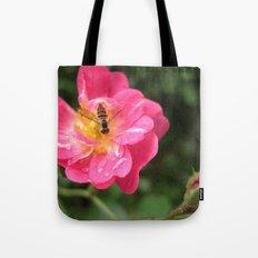 Flower Bee Tote Bag