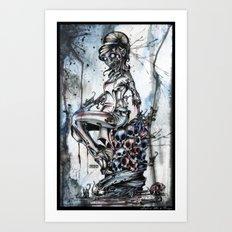 Zombie Flo Art Print