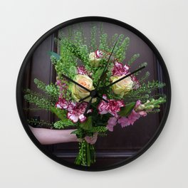 Bunch of flowers Wall Clock