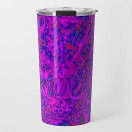 violet clouds over red puddles Travel Mug