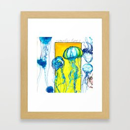 Blue jellys Framed Art Print