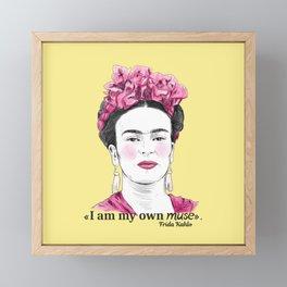 I am my own muse Framed Mini Art Print