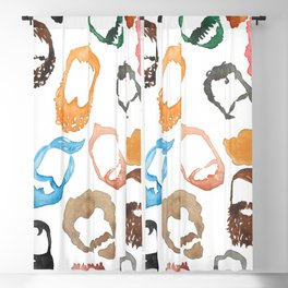 Beards on Beards Blackout Curtain