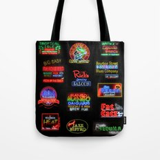 Bourbon Street Neon Signs Tote Bag