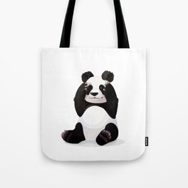 Cute big panda bear Tote Bag