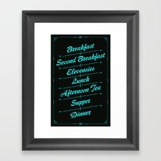 A Hobbit's Daily Meals Framed Art Print