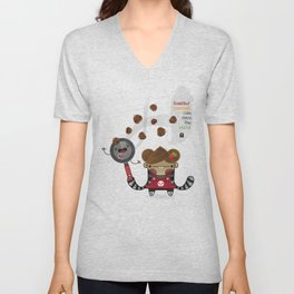 Roasted Chestnuts can save the world!!! Unisex V-Neck