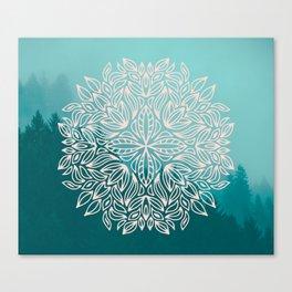 Mandala Forest Dawn Canvas Print