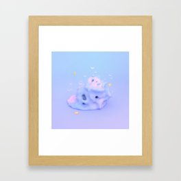 Mr Blobby Framed Art Print