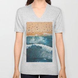 Summer Colors | Aerial Beach Unisex V-Neck