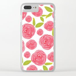 Field of Roses Clear iPhone Case