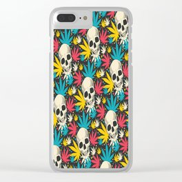 SKULL CANNABIS PATTERN Clear iPhone Case