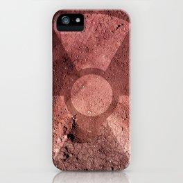Radiation warning symbol iPhone Case