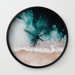 Ocean (Drone Photography) Wall Clock