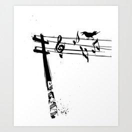 Rogue Crow Art Print