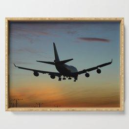 747 Sunset Landing Serving Tray