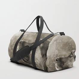 Black and White Loyal Dog Duffle Bag