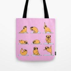 Pug Yoga // Pink Tote Bag