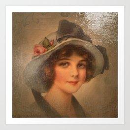 Vintage Lady 02 Art Print