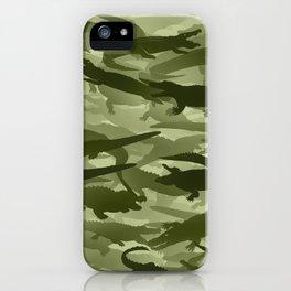 Crocodile camouflage iPhone Case