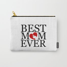 Best mom ever with face of a mother forming a heart- mothers day gifts for mom Carry-All Pouch