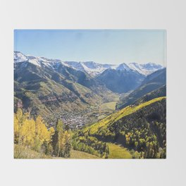 Overlooking Telluride in the Fall Throw Blanket